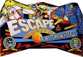 Arcade Cabinet Marquee for Escape from the Planet of the Robot Monsters.