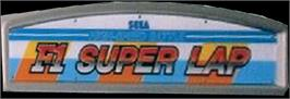 Arcade Cabinet Marquee for F1 Super Lap.