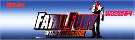 Arcade Cabinet Marquee for Fatal Fury: Wild Ambition.