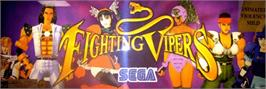 Arcade Cabinet Marquee for Fighting Vipers.