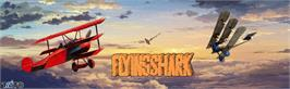 Arcade Cabinet Marquee for Flying Shark.