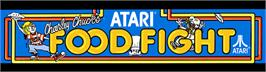 Arcade Cabinet Marquee for Food Fight.