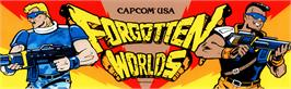 Arcade Cabinet Marquee for Forgotten Worlds.