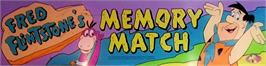 Arcade Cabinet Marquee for Fred Flintstones' Memory Match.