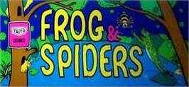 Arcade Cabinet Marquee for Frog & Spiders.