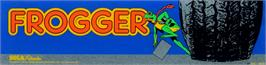 Arcade Cabinet Marquee for Frogger.