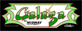 Arcade Cabinet Marquee for Galaga.