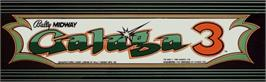 Arcade Cabinet Marquee for Galaga 3.