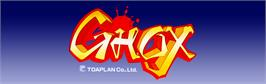 Arcade Cabinet Marquee for Ghox.