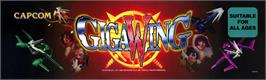 Arcade Cabinet Marquee for Giga Wing.