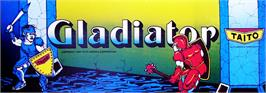 Arcade Cabinet Marquee for Gladiator.