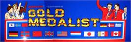 Arcade Cabinet Marquee for Gold Medalist.