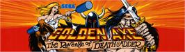 Arcade Cabinet Marquee for Golden Axe: The Revenge of Death Adder.