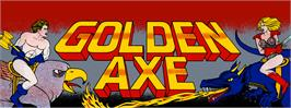 Arcade Cabinet Marquee for Golden Axe.