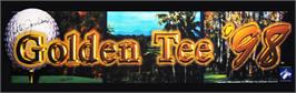 Arcade Cabinet Marquee for Golden Tee '98.