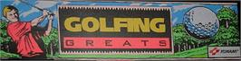 Arcade Cabinet Marquee for Golfing Greats.