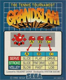 Arcade Cabinet Marquee for Grand Slam.