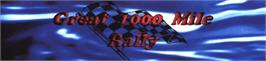 Arcade Cabinet Marquee for Great 1000 Miles Rally: U.S.A Version!.