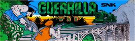 Arcade Cabinet Marquee for Guerrilla War.