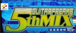 Arcade Cabinet Marquee for Guitar Freaks 5th Mix.