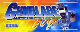 Arcade Cabinet Marquee for Gunblade NY.