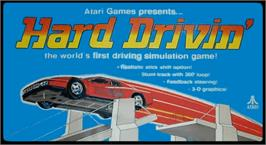 Arcade Cabinet Marquee for Hard Drivin'.