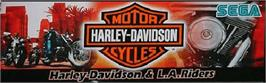 Arcade Cabinet Marquee for Harley-Davidson and L.A. Riders.