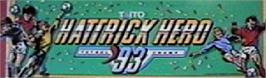 Arcade Cabinet Marquee for Hat Trick Hero '93.