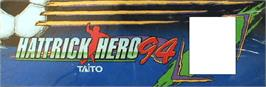 Arcade Cabinet Marquee for Hat Trick Hero '94.