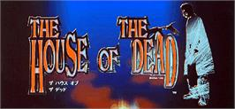 Arcade Cabinet Marquee for House of the Dead.