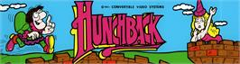 Arcade Cabinet Marquee for Hunchback.