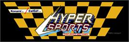 Arcade Cabinet Marquee for Hyper Sports.