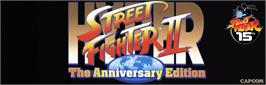 Arcade Cabinet Marquee for Hyper Street Fighter II: The Anniversary Edition.