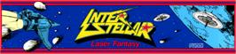 Arcade Cabinet Marquee for Interstellar Laser Fantasy.