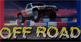 Arcade Cabinet Marquee for Ironman Ivan Stewart's Super Off-Road.
