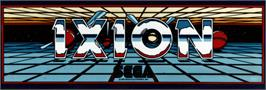 Arcade Cabinet Marquee for Ixion.