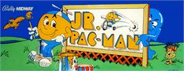 Arcade Cabinet Marquee for Jr. Pac-Man.