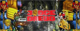 Arcade Cabinet Marquee for Judge Dredd.