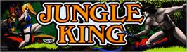 Arcade Cabinet Marquee for Jungle King.
