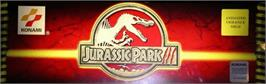 Arcade Cabinet Marquee for Jurassic Park 3.