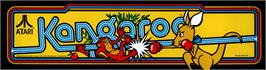 Arcade Cabinet Marquee for Kangaroo.