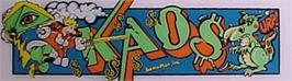 Arcade Cabinet Marquee for Kaos.