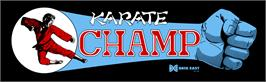 Arcade Cabinet Marquee for Karate Champ.