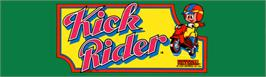 Arcade Cabinet Marquee for Kick Rider.