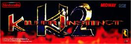 Arcade Cabinet Marquee for Killer Instinct 2.