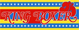 Arcade Cabinet Marquee for King of Boxer.
