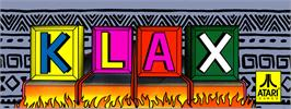 Arcade Cabinet Marquee for Klax.