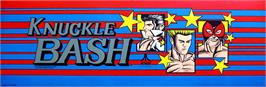 Arcade Cabinet Marquee for Knuckle Bash.