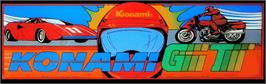 Arcade Cabinet Marquee for Konami RF2 - Red Fighter.