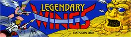 Arcade Cabinet Marquee for Legendary Wings.